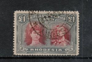 Rhodesia #118 Used Fine With Neat CDS Cancel