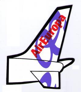 SPAIN, AIR EUROPA LINEAS AÉREAS AE- VERY NICE LUGGAGE LABEL STICKER, CINDERELLA