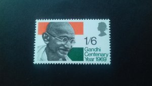 Great Britain 1969 Mathama Gandhi Mint