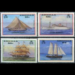 ANGUILLA 1986 - Scott# 696-9 Ships Set of 4 NH