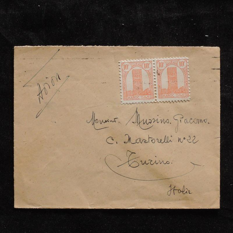 ZS-U226 MOROCCO IND - Airmail, Great Franking To Italy Cover