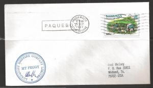 1987 Paquebot Cover, Bahamas stamp used in Grangemouth, UK 5 Sep 1987