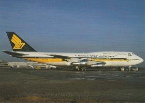 8431 Aviation Postcard  SINGAPORE B747-312  Airlines