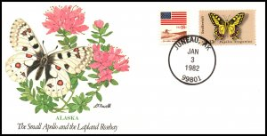 US Small Apollo Butterfly AK 1982 Fleetwood Cover