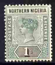 Northern Nigeria 1900 QV 1s dull mauve & black mounte...