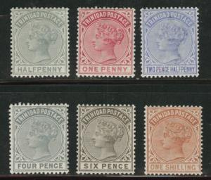 Trinidad  Scott 68-73 MH* Queen Victoria 1883-84 set CV$70