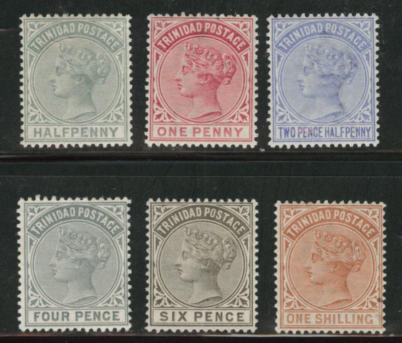 Trinidad  Scott 68-73 MH* 1883-84 Queen Victoria set CV$70