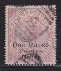Ceylon 115 VF-used neat cancel nice color cv $ 53 ! see pic !