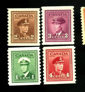Canada #278-81 MINT VF OG NH 278 LH Cat $59