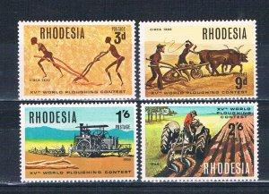 Rhodesia MNH 258-61 Farm Plows 1968
