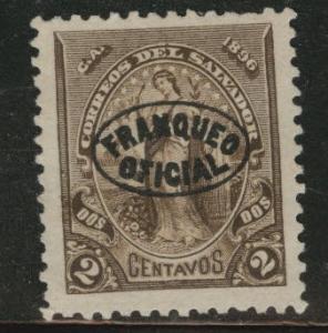 El Salvador Scott 02 MNG 1896 official