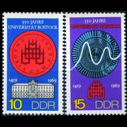 DDR 1969 - Scott# 1150-1 Rostock University Set of 2 NH
