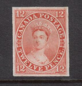 Canada #3TC Extra Fine Scar Die Proof In Orange On India Paper