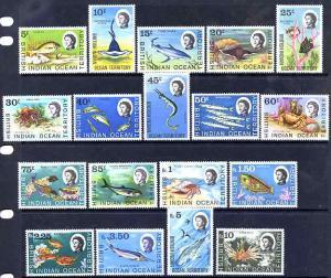 British Indian Ocean Territory 1968-70 Marine Life defini...