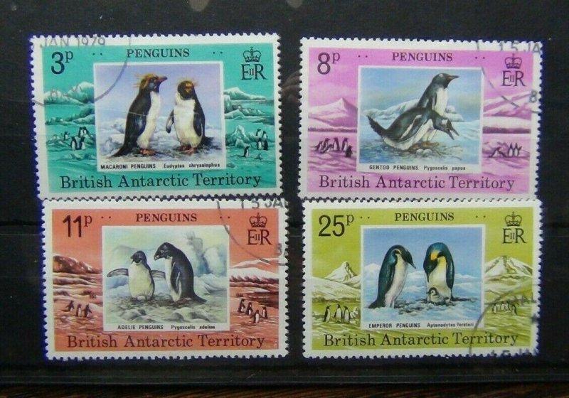 British Antarctic Territory 1979 Penguins set VFU