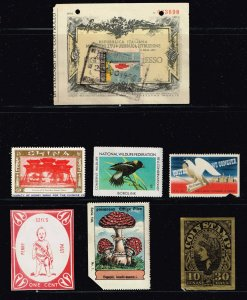 World Exhibition, Convention, Stamp Show, Poster, Label stamp Collection MIXED