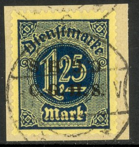 UPPER SILESIA 1920 1.25m Official C.G.H.S. DOUBLE 1 INVERTED on Piece Mi.D17 XII