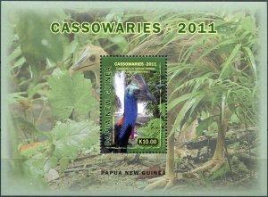 Papua New Guinea. 2011. Southern cassowary (MNH OG) Souvenir Sheet