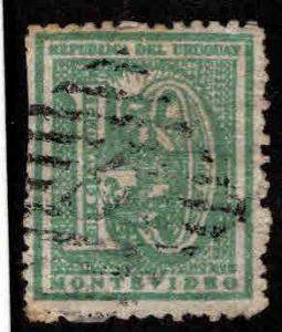 Uruguay Scott 36 Used stampscissor cut at left
