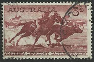Australia # 331 Cattle Drive   5 shillings  (1)   VF Used