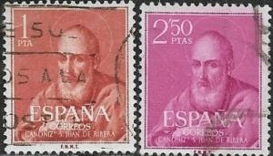 Spain 1960  St Juan de Ribera  SC#  939-940   /Used