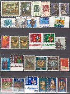 COLLECTION LOT OF #1122 LIECHTENSTEIN 29 MNH STAMPS  1967+