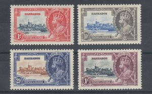 Barbados Sc 186-189 MNH. 1935 Silver Jubilee, complete set, fresh