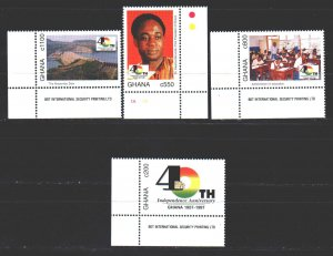 Ghana. 1997. 2474-77. 40 years of independence of Ghana,. MNH.