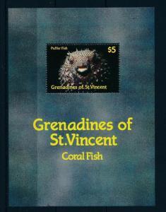 [48414] Grenadines of St. Vincent 1987 Marine life Fish MNH Sheet