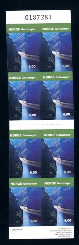 [59899] Norway 2008 Nature Fjord Self Adhesive booklet MNH