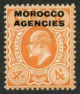Morocco Agencies SG35a 1907 4d Orange-red U/M