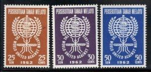 MALAYA Federation Scott102-104 MNH** WHO Malaria Eradication set