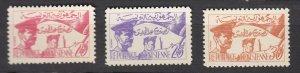 J25948  jlstamps 1957 tunisia set mnh #312-4 soldiers