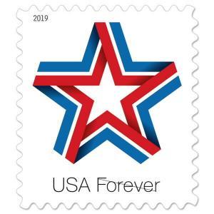 5361 Star Ribbon US Single Mint/nh Free Shipping