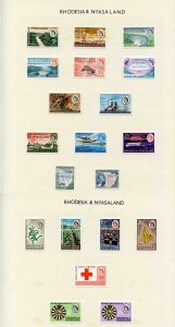 Rhodesia and Nyasaland QEII M/M Collection