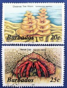 Barbados Scott # 645 & 646 Used (A208)