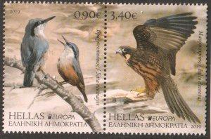2019   GREECE - EUROPA  -  BIRDS -  UNMOUNTED MINT