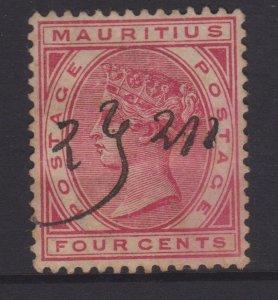 Mauritius Sc#72 Used Manuscript Cancel
