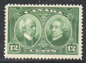 Canada Sc 147 1927 12 c Laurier & Macdonald stamp mint