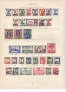 PAKISTAN GEORGE 6TH CROWN ALBUM PAGES MINT/USED TO 10 RUPEES