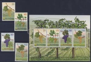 Slovenia stamp Grape varieties + block MNH 2000 Mi 320-323 + 11 WS220447