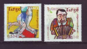 J20491 Jlstamps 2006 france set mnh #3224-5 dance tango
