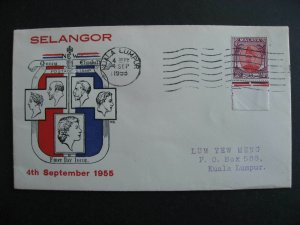 Malaya Selangor Sc 99 FDC first day cover TES cachet