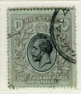 BRITISH EAST AFRICA; 1912 early GV issue fine Mint hinged Shade of 1R.