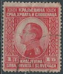 Yugoslavia 31 (used, heavy crease) 1d King Alexander, car (1924)