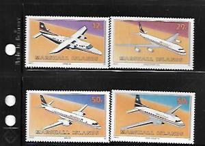 MARSHALL ISLANDS,407-410, MNH, AIRPLANES