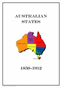Australia Australian States 1850-1912 PDF(DIGITAL) STAMP ALBUM PAGES