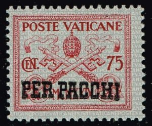 ITALY VATICAN CITY STAMP #Q7 PARCEL POST 1931 Overprinted PER PACCHI MNH/OG