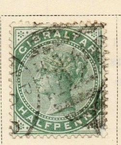 Gibraltar 1886 Early Issue Fine Used 1/2d. 326902