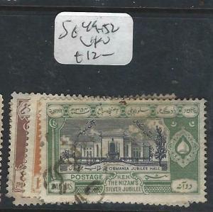 INDIA NATIVE STATE HYDERABAD  (P1003B)  SG  49-52     VFU